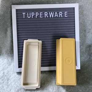 Tupperware vintage butter dish